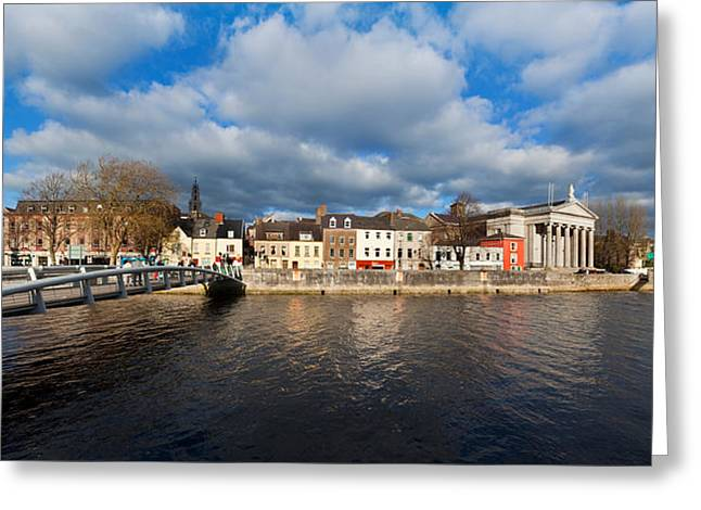St Marys Greeting Cards - Millennium Bridge Over The River Lee Greeting Card by Panoramic Images