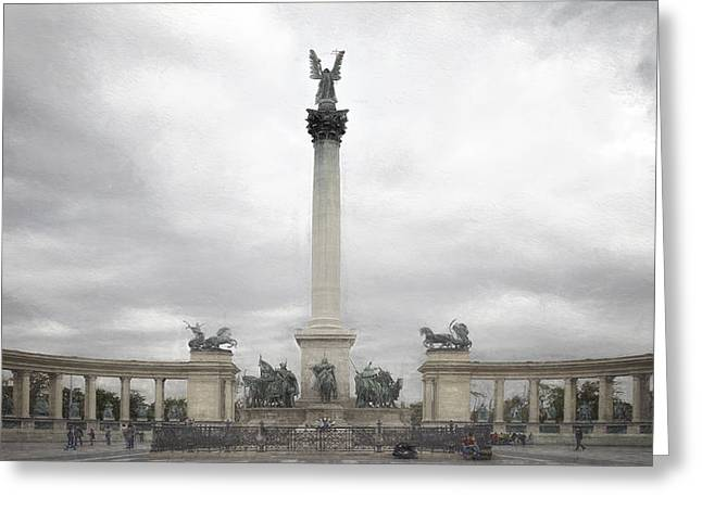 Liberation Greeting Cards - Millennium Monument Budapest Greeting Card by Joan Carroll