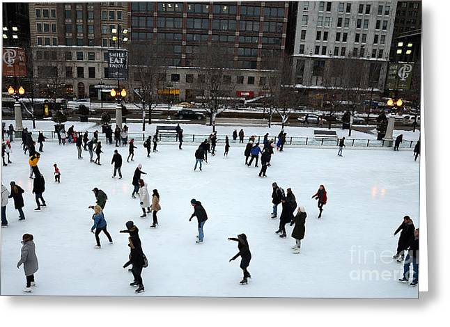 Ice-skating Greeting Cards - Millennium Skaters Greeting Card by David Bearden