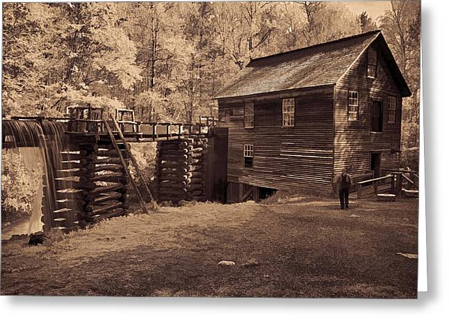 Overalls Digital Art Greeting Cards - Miller at Mingus Mill  Greeting Card by Priscilla Burgers