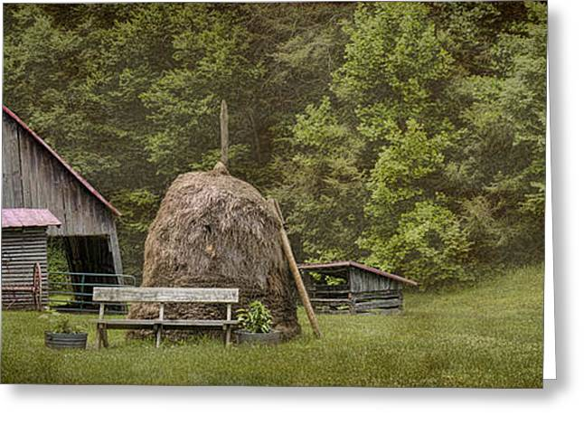 Tennessee Barn Greeting Cards - Miller Farmstead Barn Greeting Card by Heather Applegate