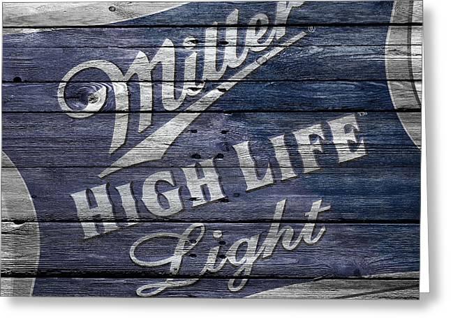 Saloons Greeting Cards - Miller High Life Greeting Card by Joe Hamilton