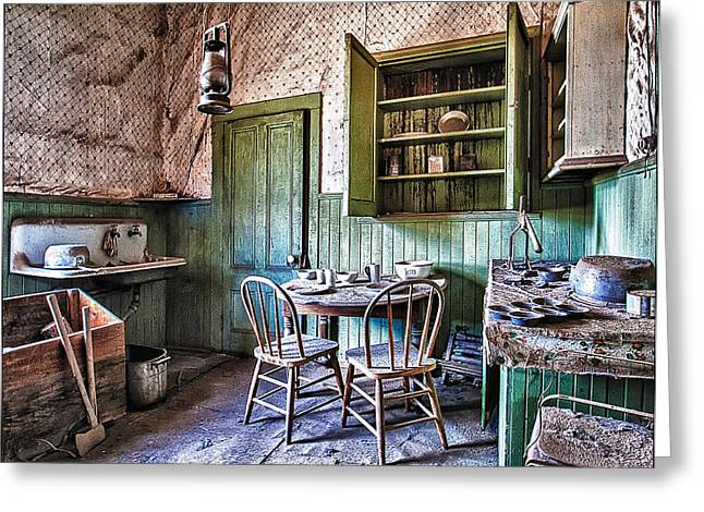 Bridgeport California Greeting Cards - Miller House Kitchen Greeting Card by Priscilla Burgers