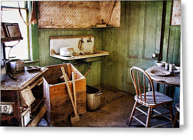 Wells Nevada Greeting Cards - Miller Kitchen Greeting Card by Lana Trussell