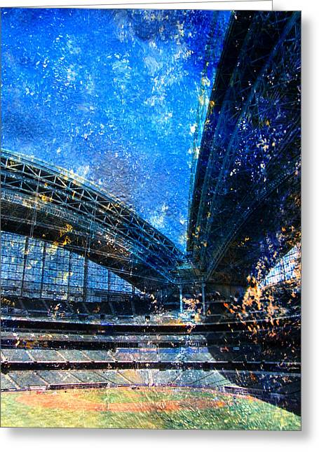 Miller Park Greeting Cards - Miller Park 1 w paint Greeting Card by Anita Burgermeister