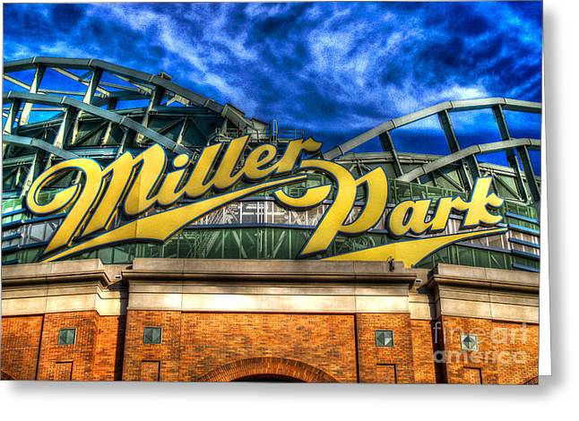 Hank Aaron Greeting Cards - Miller Park in HDR Greeting Card by Tommy Anderson