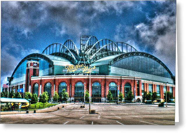 Miller Park Greeting Cards - Miller Park  Greeting Card by Tommy Anderson