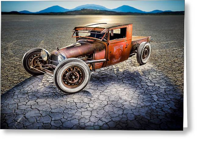 Headlight Greeting Cards - Millers Chop Shop 1929 Model A Truck Greeting Card by Yo Pedro