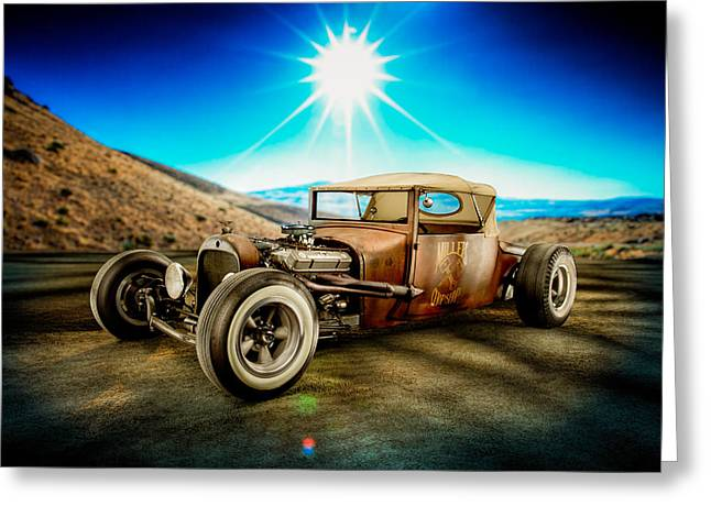 Hot Iron Greeting Cards - Millers Chop Shop 23 Dodge Turtle Back Greeting Card by Yo Pedro