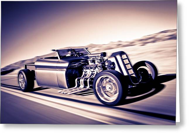 Reno Greeting Cards - Millers Chop Shop 64 GMC Truckster Greeting Card by Yo Pedro