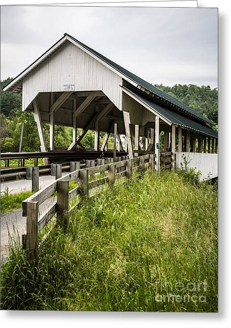 Covered Bridges Greeting Cards - Millers Run Covered Bridge Greeting Card by Edward Fielding