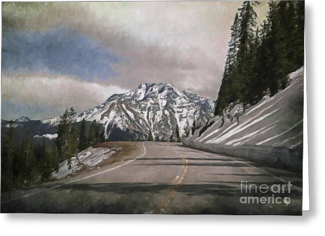 Scenic Drive Digital Greeting Cards - Million Dollar Highway Greeting Card by Janice Rae Pariza