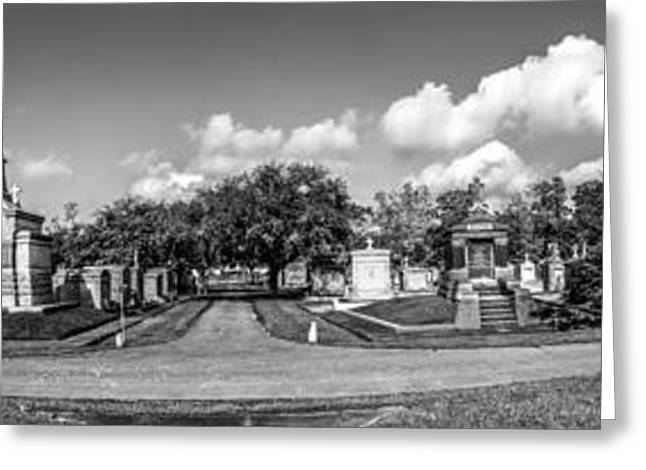 Metairie Cemetery Greeting Cards - Millionaires Row - Metairie Cemetery Greeting Card by Andy Crawford