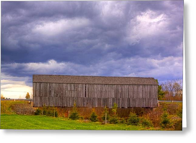 Centreville Greeting Cards - Millstream River Centreville Covered Bridge HDR Greeting Card by Jamie Roach