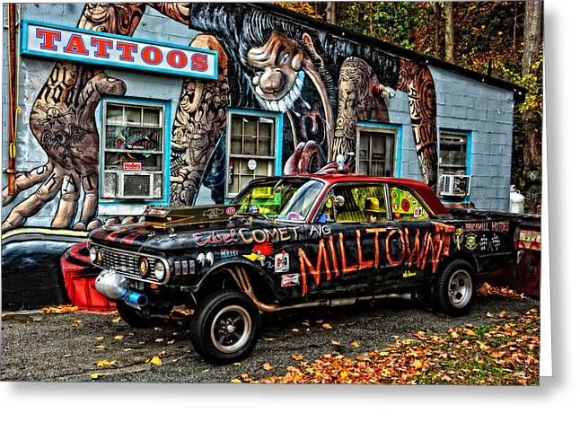 Stp Greeting Cards - Milltowns Edsel Comet Greeting Card by Mike Martin