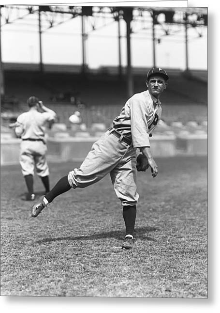 Baseball Game Greeting Cards - Milton J. Milt Stock Greeting Card by Retro Images Archive