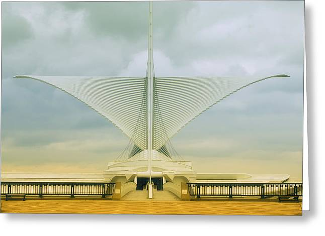 White Digital Greeting Cards - Milwaukee Art Center Greeting Card by Jack Zulli