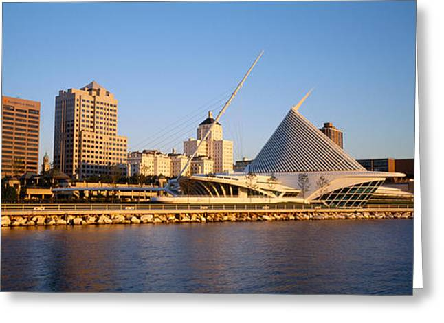 Milwaukee Art Museum Greeting Cards - Milwaukee Art Museum Milwaukee Wi Greeting Card by Panoramic Images