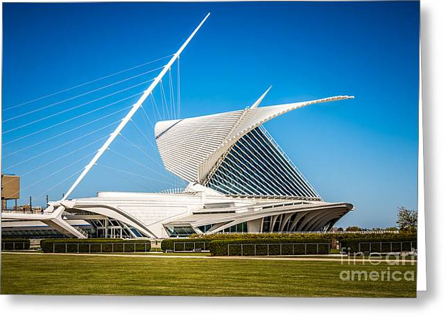 Milwaukee Art Museum Greeting Cards - Milwaukee Art Museum Picture in Milwaukee Wisconsin Greeting Card by Paul Velgos