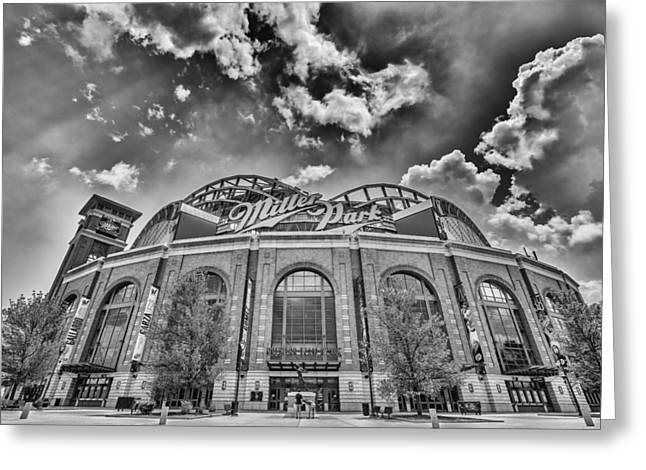 Miller Park Greeting Cards - Milwaukee Brewers Miller Park 7 Greeting Card by David Haskett