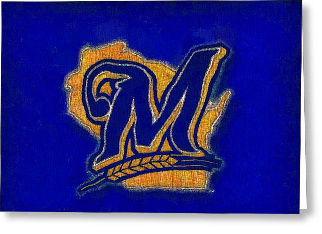 Miller Park Greeting Cards - Milwaukee Brewers Greeting Card by Dan Sproul