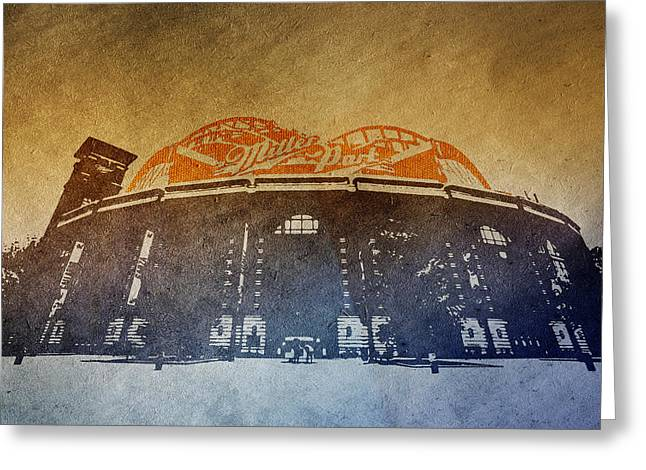Stadium Design Greeting Cards - Milwaukee Brewers Miller Park  4  Art  9291 Greeting Card by David Haskett