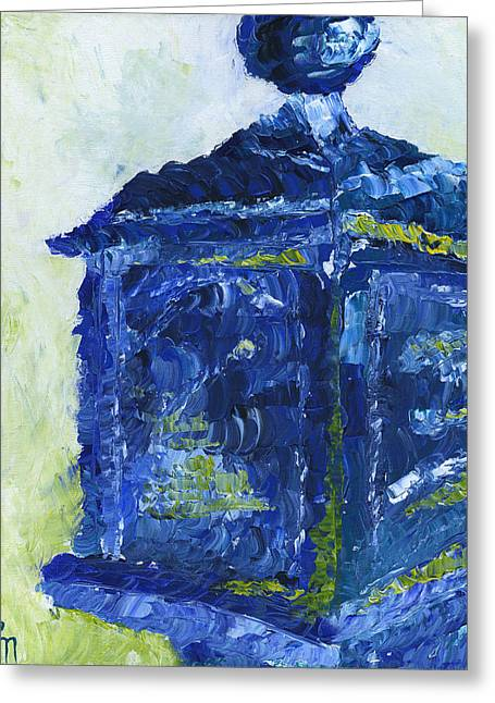 Pallet Knife Greeting Cards - Milwaukee Police Call Box Greeting Card by Lindsey Mathewson