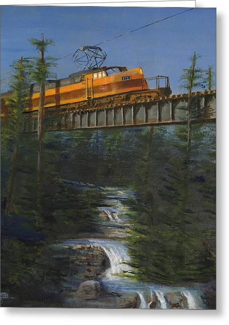 Train Greeting Cards - Milwaukee Roads Wilderness Greeting Card by Christopher Jenkins