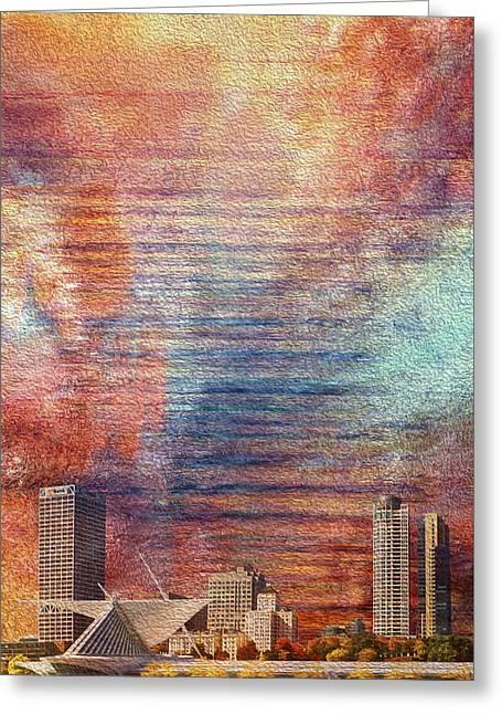 Milwaukee Skyline Greeting Card by Jack Zulli