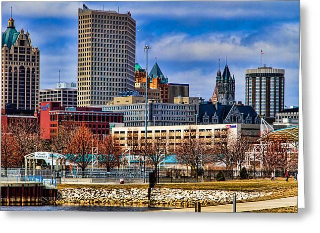 Milwaukee Skyline Greeting Cards - Milwaukee Skyline Greeting Card by Jeffrey Ewig