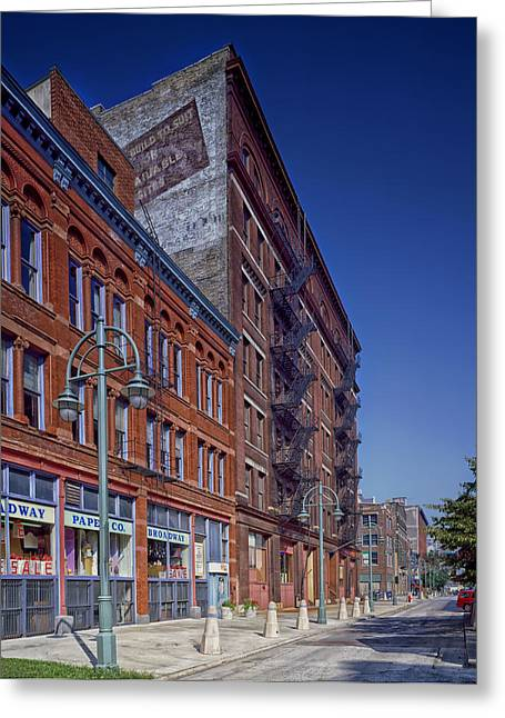 Third-oldest Greeting Cards - Milwaukees Broadway Street Greeting Card by Mountain Dreams