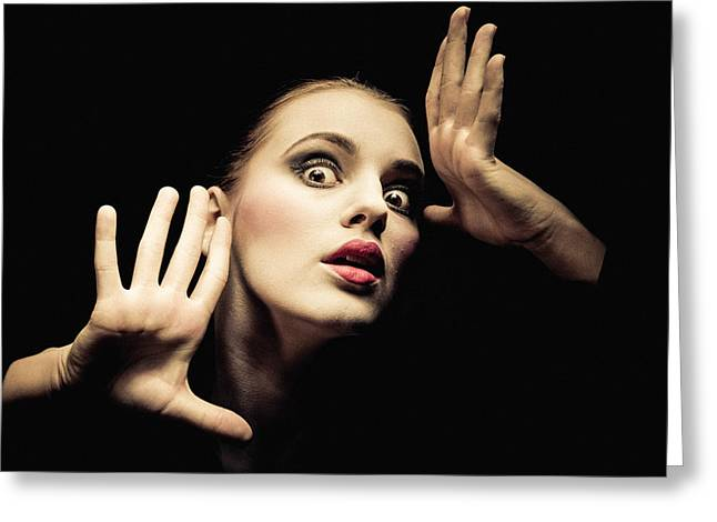 Distraught Greeting Cards - Mime Greeting Card by Instants