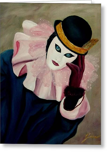 Mime With Thoughts Greeting Card by Gino Didio