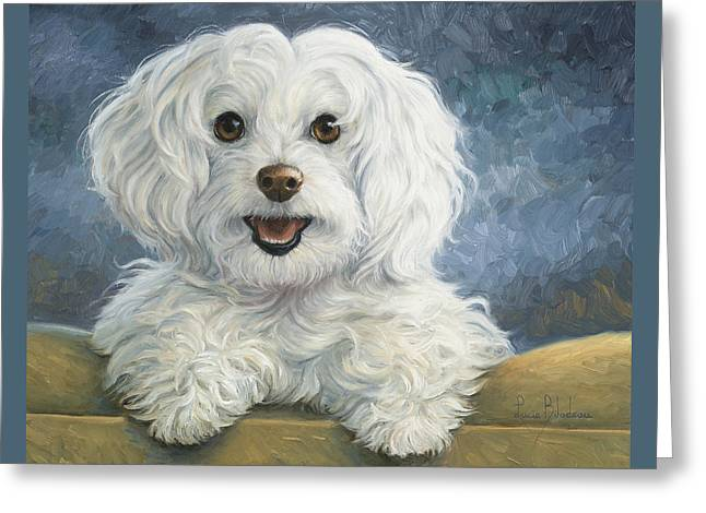 Indoors Greeting Cards - Mimi Greeting Card by Lucie Bilodeau