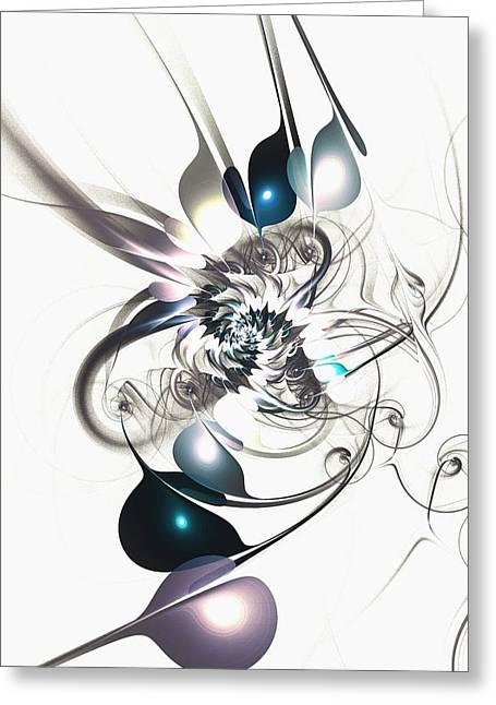 Subtle Colors Mixed Media Greeting Cards - Mimic Greeting Card by Anastasiya Malakhova