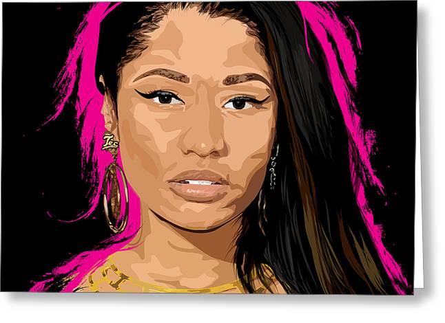 Hip Hop. Rnb Greeting Cards - Minaj Greeting Card by Tecnificent