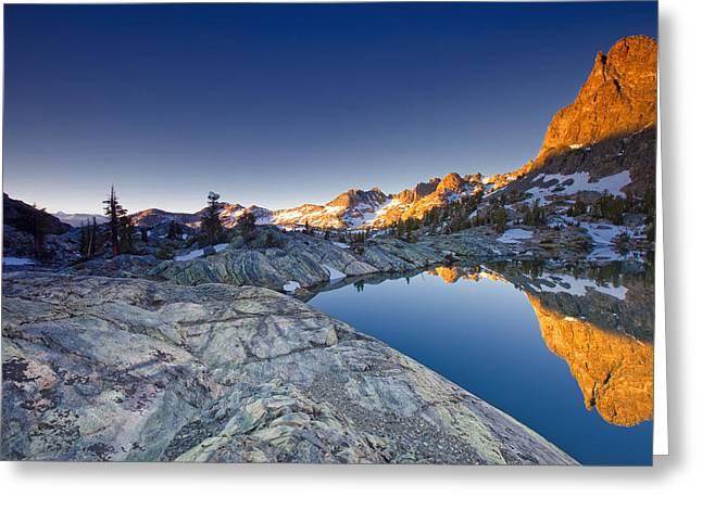 Siera Nevada Greeting Cards - Minaret Lake Sunrise 3. Greeting Card by Laszlo Rekasi
