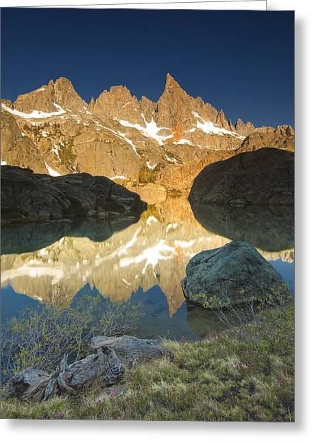 Siera Nevada Greeting Cards - Minaret Lake Sunrise 6. Greeting Card by Laszlo Rekasi