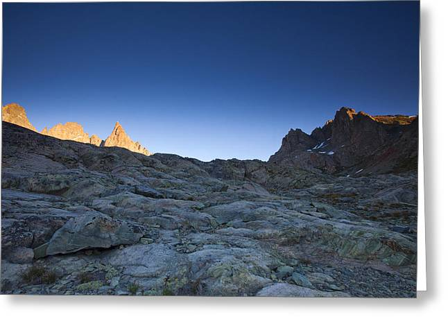 Siera Nevada Greeting Cards - Minaret Lakes Sunrise 4. Greeting Card by Laszlo Rekasi