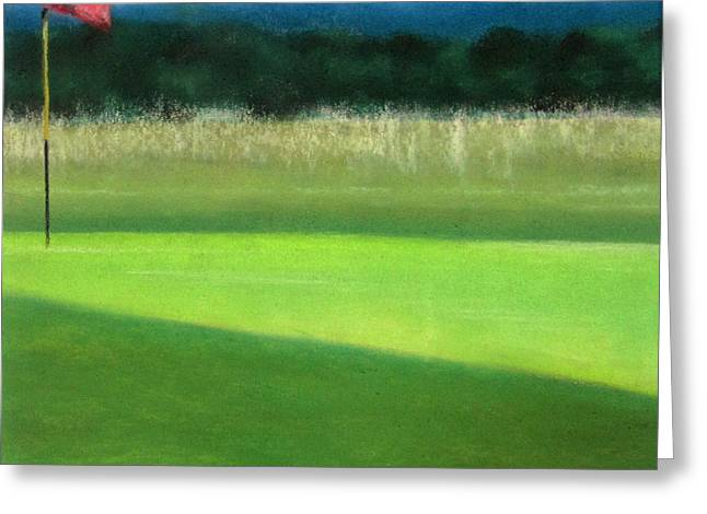 Nature Scene Pastels Greeting Cards - Minchinhampton Golf course III Greeting Card by Juliet Matthews