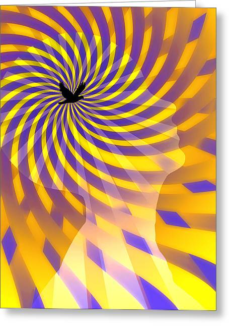 Human Intellect Greeting Cards - Mind Greeting Card by Bruce Rolff