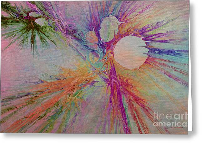 Mind Energy Aura Greeting Card by Deborah Benoit