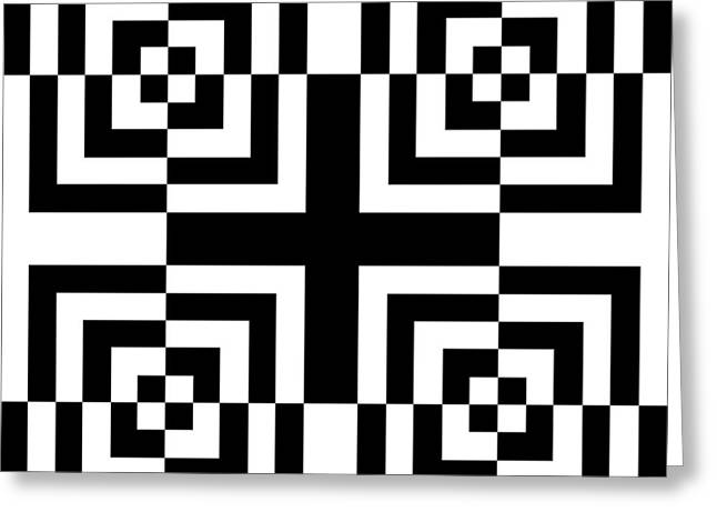 Op Art Greeting Cards - Mind Games 13 Greeting Card by Mike McGlothlen