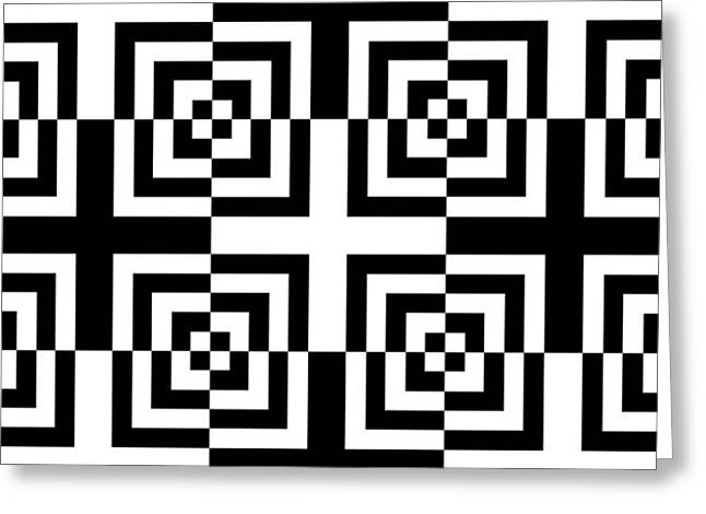 Op Art Greeting Cards - Mind Games 14 Greeting Card by Mike McGlothlen