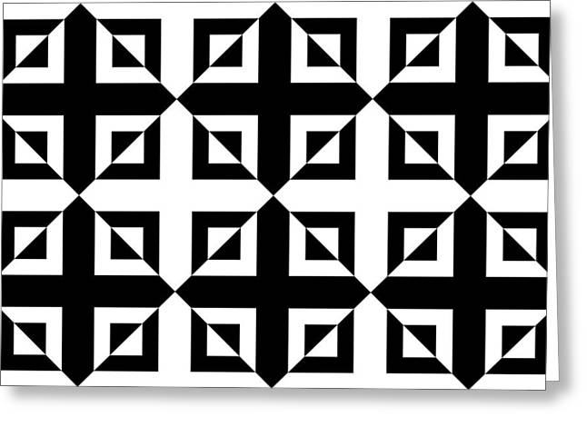 Art In Squares Greeting Cards - Mind Games 42 se Greeting Card by Mike McGlothlen