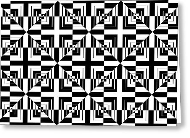Black Greeting Cards - Mind Games 45 Greeting Card by Mike McGlothlen