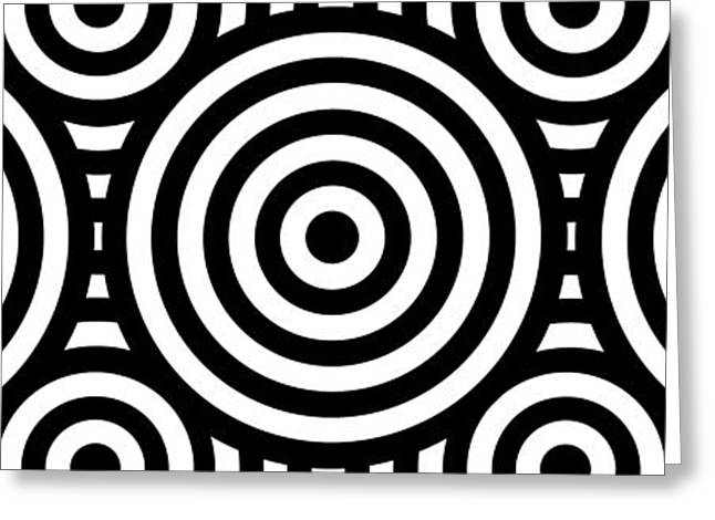Pop Mixed Media Greeting Cards - Mind Games 54 Panoramic Greeting Card by Mike McGlothlen