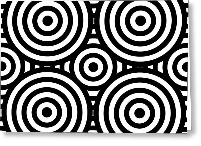 Op Art Greeting Cards - Mind Games 55 Greeting Card by Mike McGlothlen
