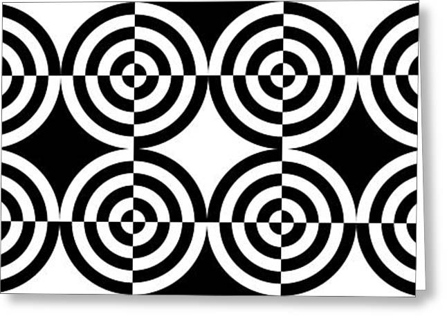 Op Art Greeting Cards - Mind Games 6 Panoramic Greeting Card by Mike McGlothlen