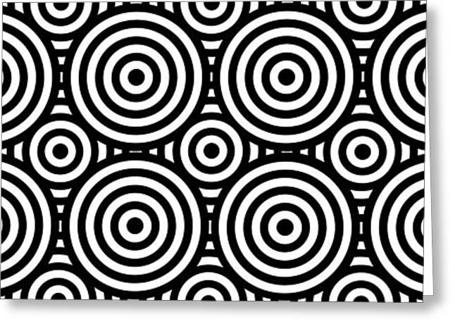 Op Art Greeting Cards - Mind Games 57 Panoramic Greeting Card by Mike McGlothlen